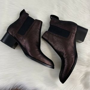 Rag & Bone Walker Copper Metallic Leather Booties